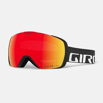 Giro - Contact Asian Fit Black Wordmark Snow Goggles / Vivid Emerald + Vivid Infrared Lenses