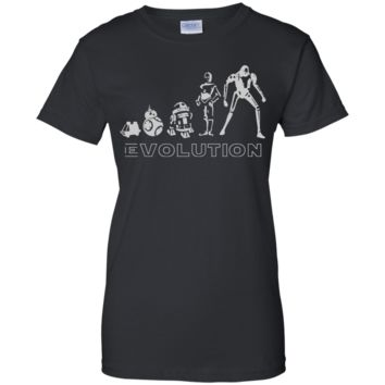 Star war t shirt - Robot Evolution Space War in the Stars Graphic Funny Parody G200L Gildan Ladies' 100% Cotton T-Shirt