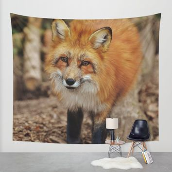 Fox Wall Tapestry by Mixed Imagery