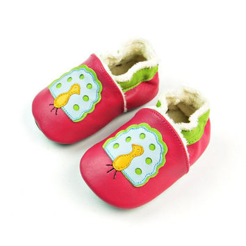 Leather Handcrafts Environmental Baby Peacock Shoes [4919350660]