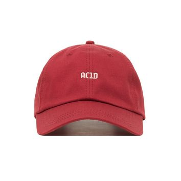 Premium Embroidered Acid Dad Hat - Baseball Cap with Adjustable Closure