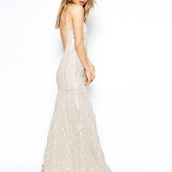 Needle & Thread Chalk Lace Maxi Dress