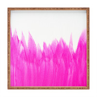 Allyson Johnson Pink Brushed Square Tray