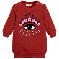 Kenzo Girls Red Classic 'Eye' Sweater Dress | New Collection
