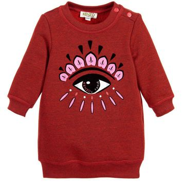 Kenzo Baby Girls Red Classic 'Eye' Sweater Dress