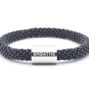 Breathe Word Bracelet- Extended 8""