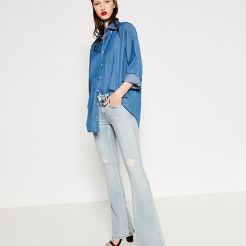 MID - RISE FLARED JEANS-View All-JEANS-WOMAN | ZARA United Kingdom