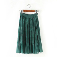 Summer Women's Fashion Pleated Stylish Skirt [4920258756]