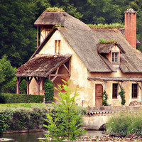 Marie Antoinette's Hamlet, Versailles Photo - 8x10 - Cottage Chic, Shabby, Old, Forest, Fairytale, Storybook, Village, Hansel and Gretel