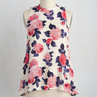 Zeal of Fortune Top in Flowers | Mod Retro Vintage Short Sleeve Shirts | ModCloth.com
