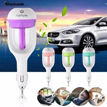 Car Humidifier, Air Purifier,Freshener 50ML Essential Oil Diffuser, Aromatherapy,DC 12V, 4 Colors