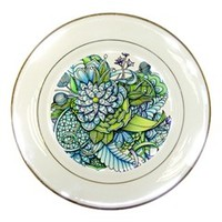 Peaceful Flower Garden Porcelain Display Plate