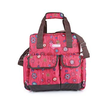 Orgrimmar Multifunction Diaper Tote Bags Baby Nappy Bag Larger Capacity Mummy Handbag Backpack (Red Sunflower)