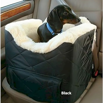 Snoozer Pet Dog Cat Puppy Outdoor Lookout II Car SUV Secure Safety Seat Small Khaki Quilt