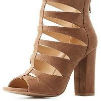 Caged Cut-Out Dress Sandals