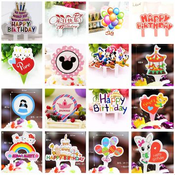 50pcs cakeCake Mickey Mouse Princess Crown decorating Happy birthday Party Supplies Cupcake Tutu Cake birthday decorations gift