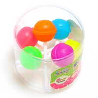 12Pcs/lot creative Sweet Candy Lolipop Eraser school office supplies Gifts for kids free shipping