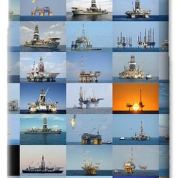 Gulf of Mexico Oil Rigs Poster iPhone 6 Case