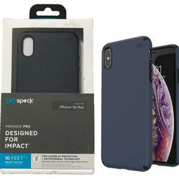Speck Presidio Pro Case for Apple iPhone XS Max Carbon Black Eclipse Blue OP