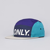 Flatspot - Only NY Logo 5 Panel Cap Purple / Teal / Beige