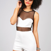 Siren Mesh Romper | Sexy Rompers at Pink Ice