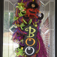 Last One! Halloween Door Swag, Halloween Wreath, Halloween Door Hanger