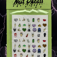 NAIL DECALS - RockNRoll - free shipping U S A - Andy Paerels