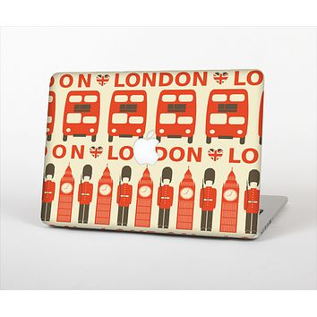 The Vector Tan and Red London Skin Set for the Apple MacBook Air 11""