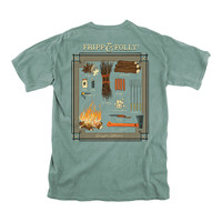 Campfire Collection Tee in Light Green by Fripp & Folly