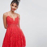 ASOS Lace Cami Mini Prom Dress at asos.com