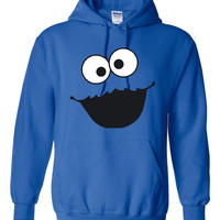 Cookie Monster Hoodie. Funny Shirts For All Ages. Keep Warm With One Of My Fun Hoodies! Makes a Great Gift!!!!