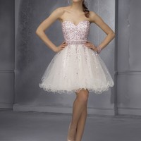 Short Homecoming Dresses From Sticks And Stones By Mori Lee Dress Style 9286 Tulle with contrast beading