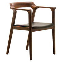 Caitlan Dining Chair, Tan/Walnut
