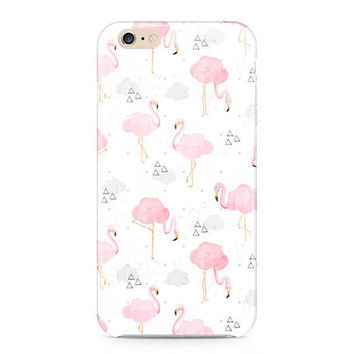 Pink Flamingos Phone Case, Cloud Flamingos Phone Case, Pink and White Phone Case, Tropical Phone Case, iPhone 7, Samsung Galaxy S8