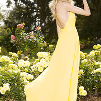 All That Shines Yellow Maxi Dress