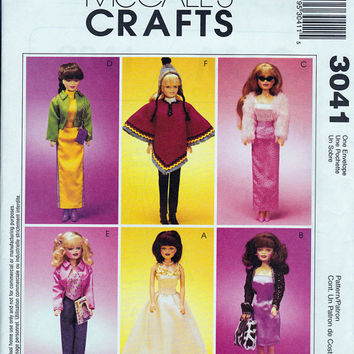 Pattern: Barbie Doll Clothes McCalls 3041