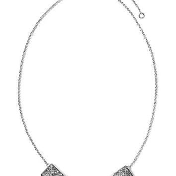Banana Republic Five Pyramid Necklace Size One Size - Silver