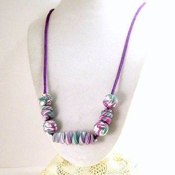Polymer Clay Necklace, Fun Necklace, Jewelry for Her, Handmade Polymer Clay Jewelry