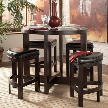 Capri Bay 5-Piece Counter Height Pub Table & Chair Set