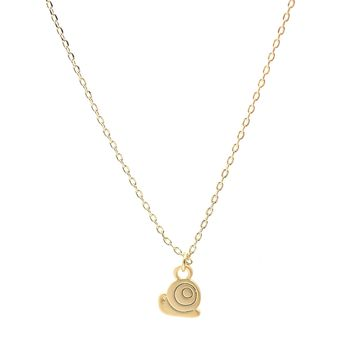 Matte Finish Tiny Rolling Snail Necklace