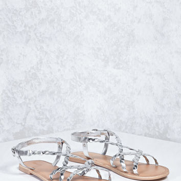 Metallic Braided Sandals