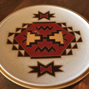 Vintage 1970s Mikasa Stylekraft TRADING POST Replacement Dinner Plate Southwest