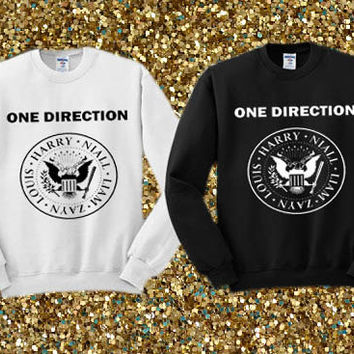 One Direction Ramones Logo crewneck sweater available for men and woman unisex adult