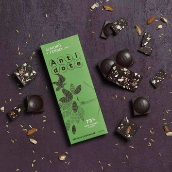 Antidote Chocolate - Artemis:Almond + Fennel 73% with slow roasted cacao