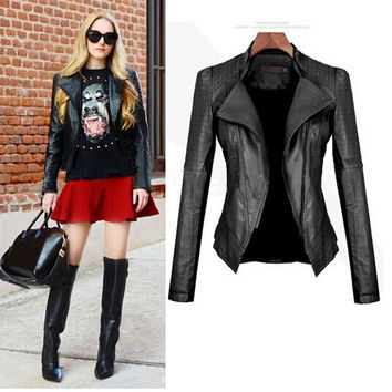 Fashion New Women PU Jacket [9710109071]
