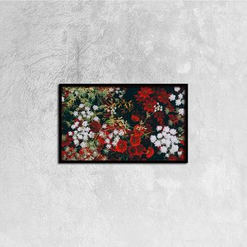 Floral Canvas Print Wall Art, 20ⅹ12 inch