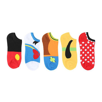 Disney Cosplay No-Show Socks 5 Pair