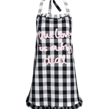 H&M - Checked Apron - Black/White/Checked