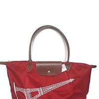 Longchamp Le Pliage Eiffel Tower 2017 Limited Edition Large Shoulder Tote - Red