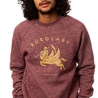 The Burglary Crewneck Sweatshirt in Speckle Burgundy